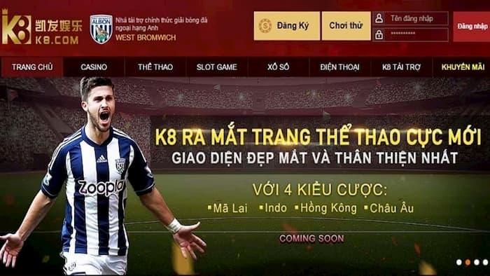 K8 có chất lượng cá cược rất tốt - lý do bạn nên cược bóng đá tại K8